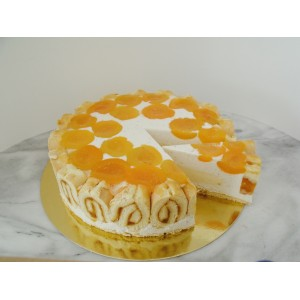 Kajszis mascarpone torta